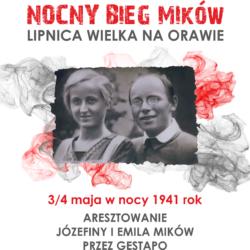 Nocny Bieg pamięci Józefiny i Emila Mików w Lipnicy Wielkiej na Orawie